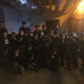 Lézerharcos csapatépítő U11 Fehér módra